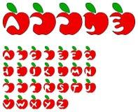 Alphabet d'Apple Photographie stock
