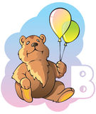 Alphabet d'enfants : lettre B Photographie stock libre de droits