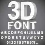 alphabet 3D et nombres Photos stock
