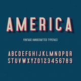 Alphabet 3d handcrafted par vintage de l'Amérique Illustration de vecteur illustration libre de droits