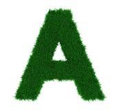 Alphabet A d'herbe Photo libre de droits