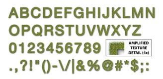 Alphabet d'herbe illustration libre de droits