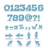 Alphabet d'hiver avec l'effet de chapeau de neige illustration libre de droits