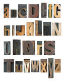 Alphabet d'impression typographique Photographie stock libre de droits
