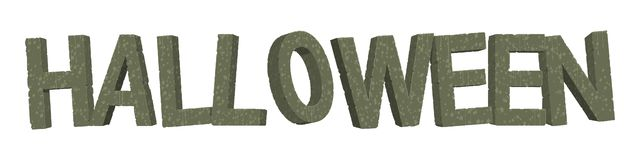 Alphabet d'isolement de pierre de Halloween illustration de vecteur