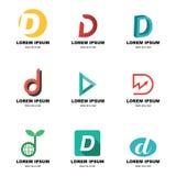 Alphabet d logo Stock Image