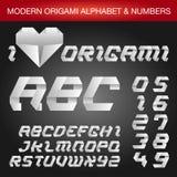 Alphabet d'Origami Images libres de droits
