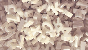 Alphabet. 3D render of alphabet letters Stock Photography