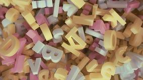 Alphabet. 3D render of alphabet letters Royalty Free Stock Photo