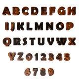 alphabet 3d rouge foncé Photographie stock libre de droits