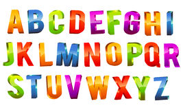 Alphabet 3d Text Royalty Free Stock Photo