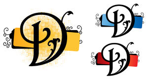 Alphabet d vector Royalty Free Stock Photo