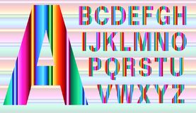 Alphabet dans le style mexicain illustration libre de droits