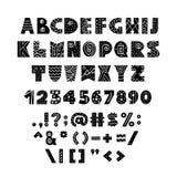 Alphabet dans le style scandinave illustration stock