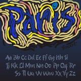 Alphabet dans le type de l'artiste Vincent van Gogh Image stock
