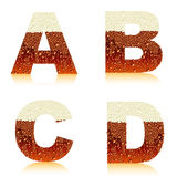 Alphabet dark beer ABCD Stock Photos