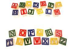 Alphabet, das Blöcke erlernt Lizenzfreie Stockfotos