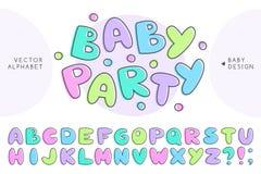 Alphabet de bébé de vecteur Images stock