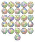 Alphabet de ballon Image stock