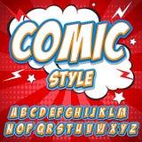 Alphabet de bandes dessinées Vecteur d'alphabet de bandes dessinées Art d'alphabet de bandes dessinées Web d'alphabet de bandes d Image stock
