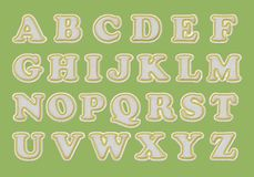 Alphabet de base-ball Illustration Libre de Droits