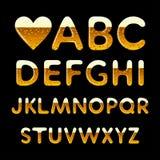 Alphabet de bière Images stock