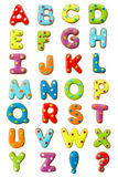 Alphabet de biscuit Images libres de droits