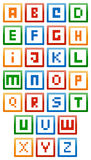 Alphabet de blocs constitutifs illustration libre de droits