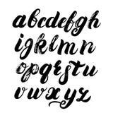 Alphabet de brosse écrit par main Photos libres de droits