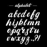 Alphabet de brosse écrit par main Images libres de droits