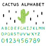 Alphabet de cactus Illustration de vecteur illustration libre de droits