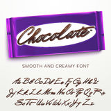Alphabet de chocolat illustration stock