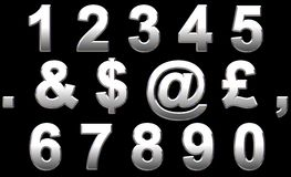 Alphabet de chrome Image stock