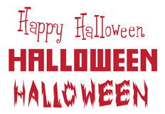 Alphabet de conception de Halloween de vecteur illustration libre de droits