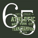 Alphabet de conception et ligue de nombres première sportive Photos libres de droits