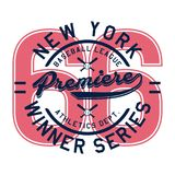 Alphabet de conception et première de New York de nombres Images stock