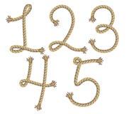 Alphabet de corde.  illustration Photographie stock