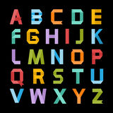 Alphabet de couleur de papier Photographie stock