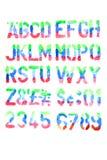 Alphabet de couleurs d'eau Image stock