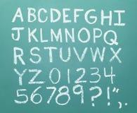 Alphabet de craie image stock
