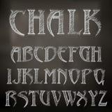 Alphabet de craie Photographie stock libre de droits