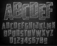 Alphabet de craie illustration de vecteur