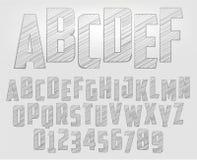 Alphabet de crayon illustration stock