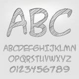 Alphabet de crayon illustration de vecteur