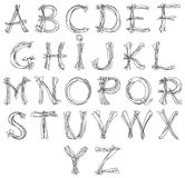Alphabet de croquis Photo libre de droits