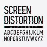 Alphabet de déformation d'écran Photographie stock libre de droits