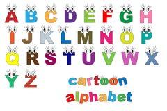 Alphabet de dessin animé Photographie stock libre de droits