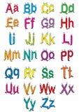 Alphabet de dessin animé illustration stock