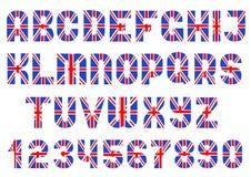 Alphabet de drapeau britannique illustration stock