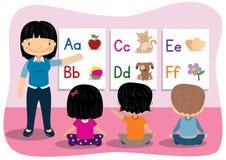 Alphabet de enseignement Photo stock